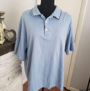 Eddie Bauer light blue polo top.  Size XL
